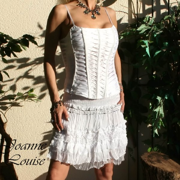 Sexy Ladies Frilled White Mini Skirt