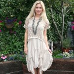 Sexy Womens Natural Silk Lace Unique Boho Dress